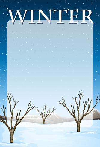 Border design med vinter tema
