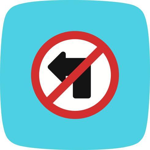 Vector Geen linksaf pictogram