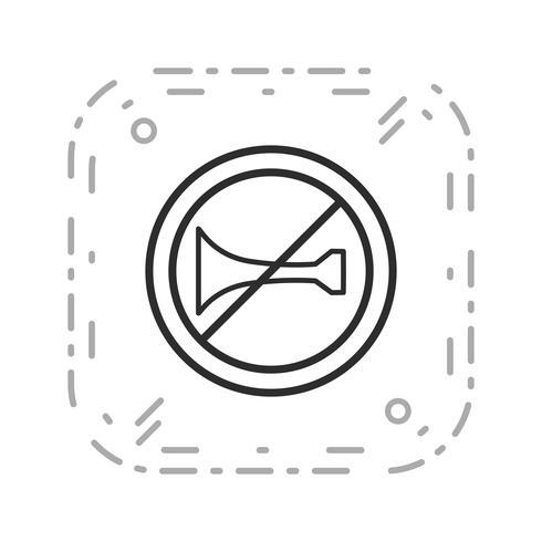 Icône d'avertissement sonore Vector interdite