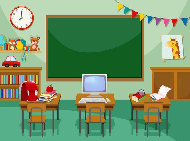 Un aula de computacion vacia