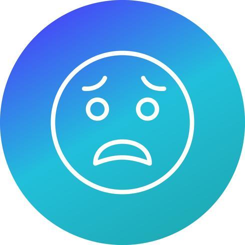 Erschrockene Emoji-Vektor-Ikone