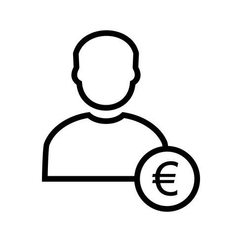 Euro met Man Vector Icon