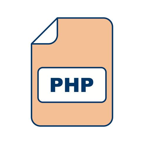 PHP Vector-pictogram vector