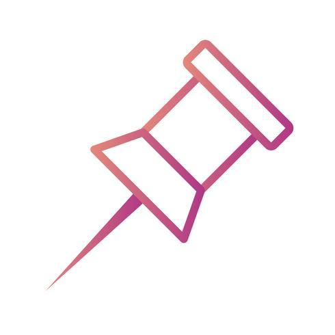 Let op Pin Vector Icon