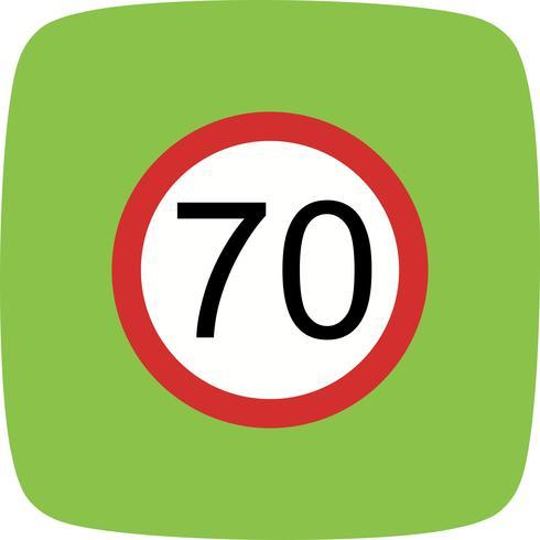 Vector Snelheidslimiet 70 pictogram