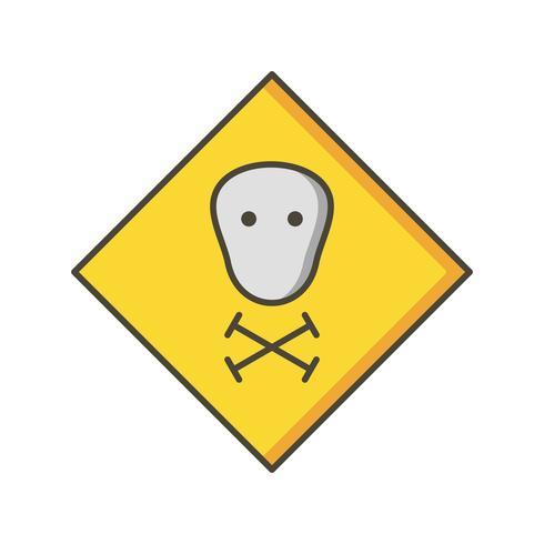 giftige vector pictogram