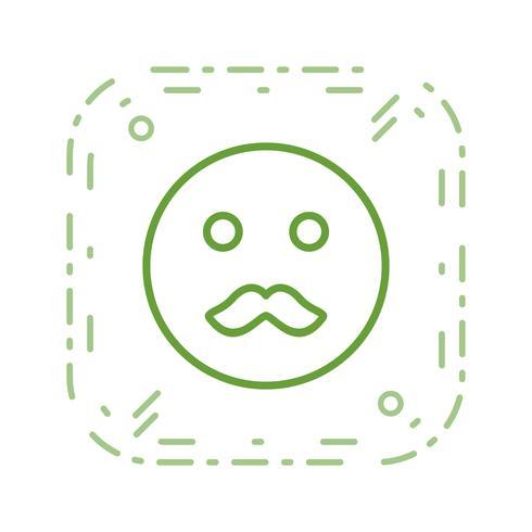 Bigote Emoji Vector Icon