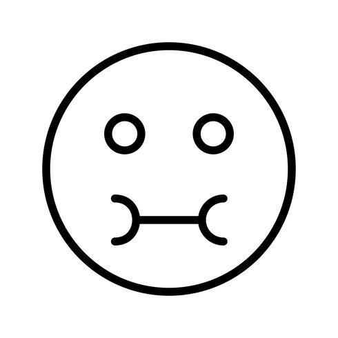 Zieke Emoji Vector Icon
