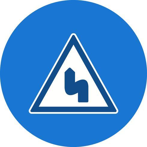Vector Doble curva hacia la izquierda Icono