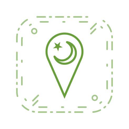 icône de vecteur de minarat