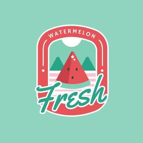 Crachá retrô de melancia fresca de verão