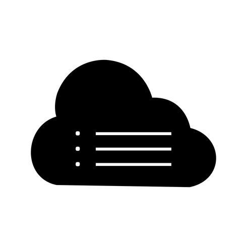 Ícone de vetor de dados de nuvem