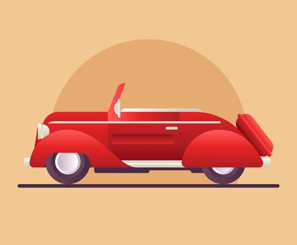 Retro auto illustratie vector