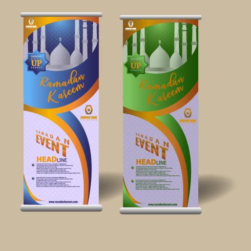 Ramadan rollen Banner Vorlage auf