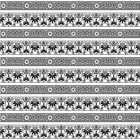ethnic seamless striped pattern background in white and black colors vector