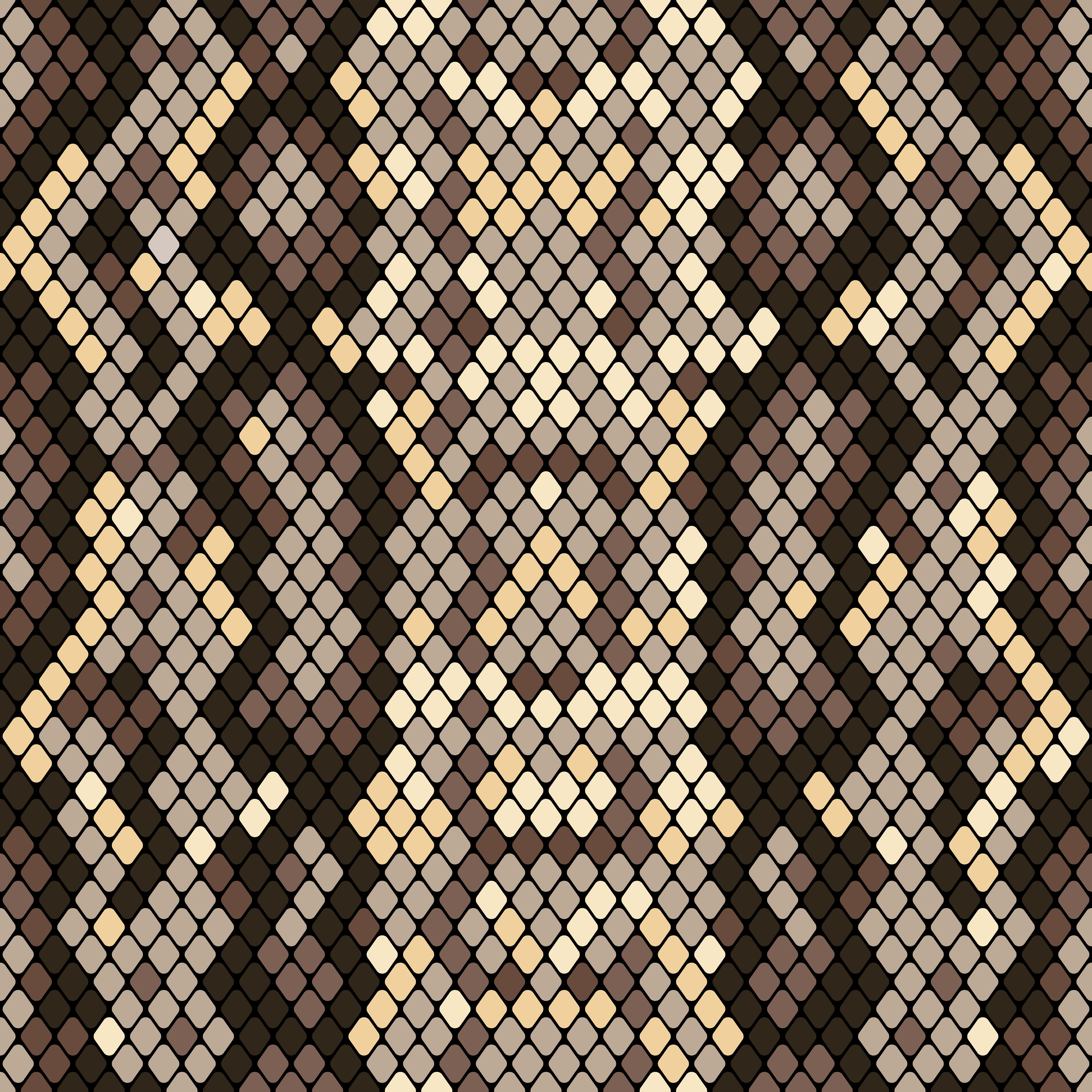 Snakeskin seamless pattern. Realistic texture of snake or another reptile skin. Beige and brown ...
