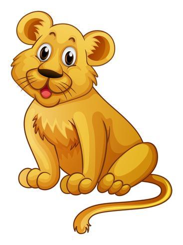 Petit lion au visage heureux