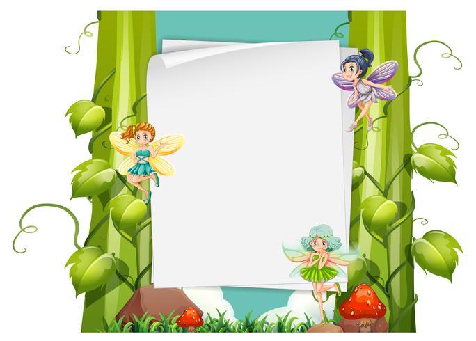 Ontwerp van het papier met feeën vliegen