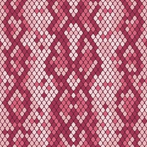 Modèle sans couture de peau de serpent. Texture réaliste de serpent ou d'une autre peau de reptile. Couleurs rose pourpre. Illustration vectorielle vecteur