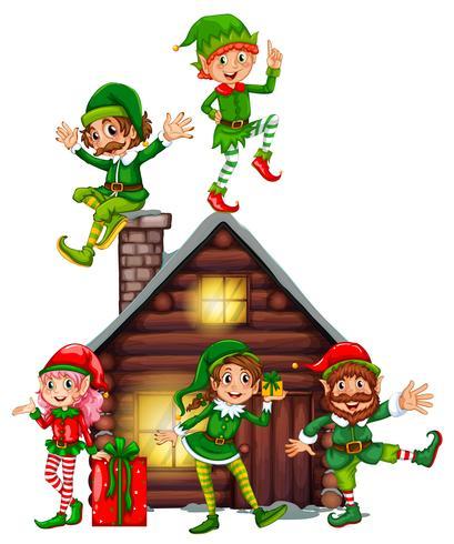 Muitos elfos na cabine