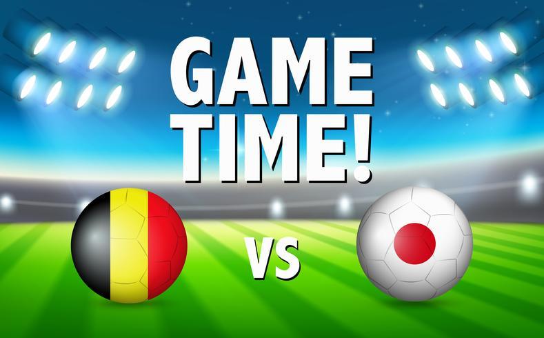 Tempo di gioco belgio vs Giappone vettore