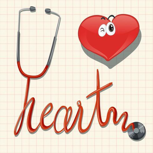 Stethoskop und Herz auf Millimeterpapier