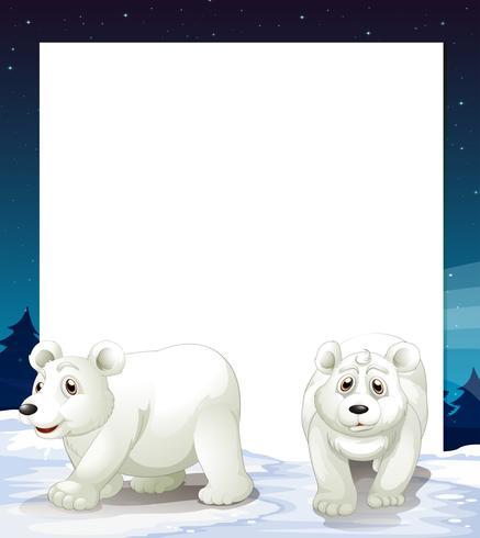 Eisbär-Vorlage vektor