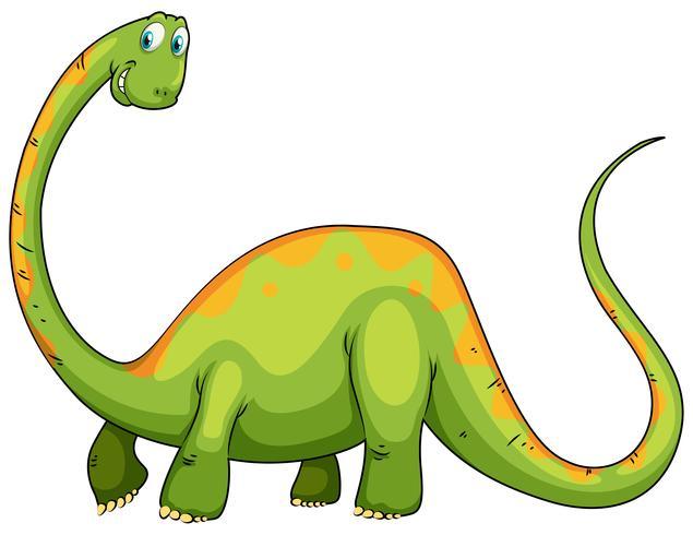 Dinosaurio con cuello y cola largos.