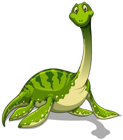 Brachiosauro verde con collo lungo
