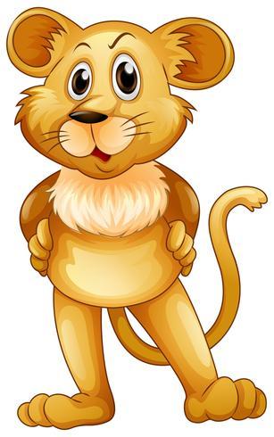 Schattige leeuw baby staande