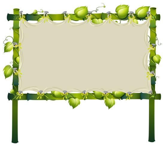 Frame made of bamboo with white cloth