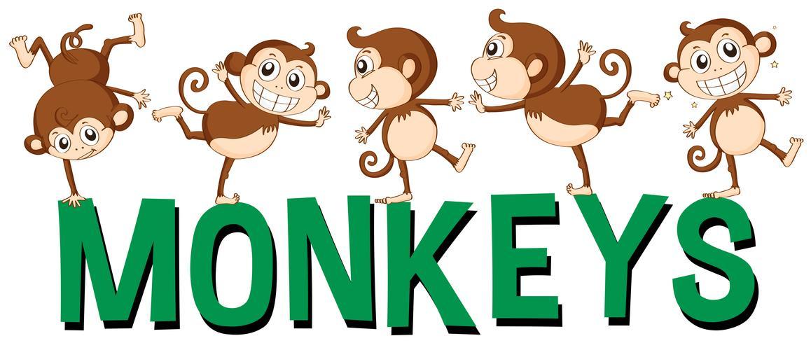 Design de fonte para macacos de palavra