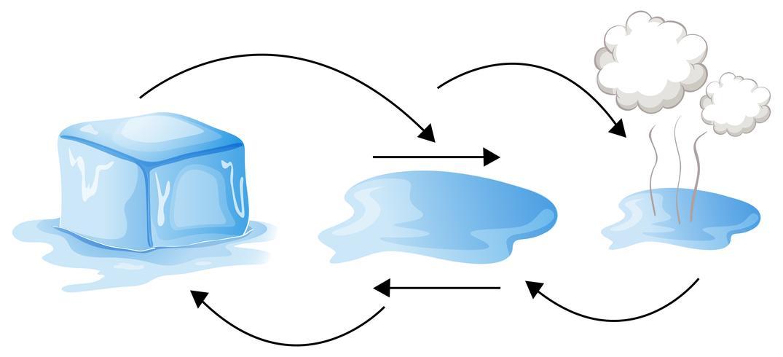 Diagram som visar olika vattenstatus
