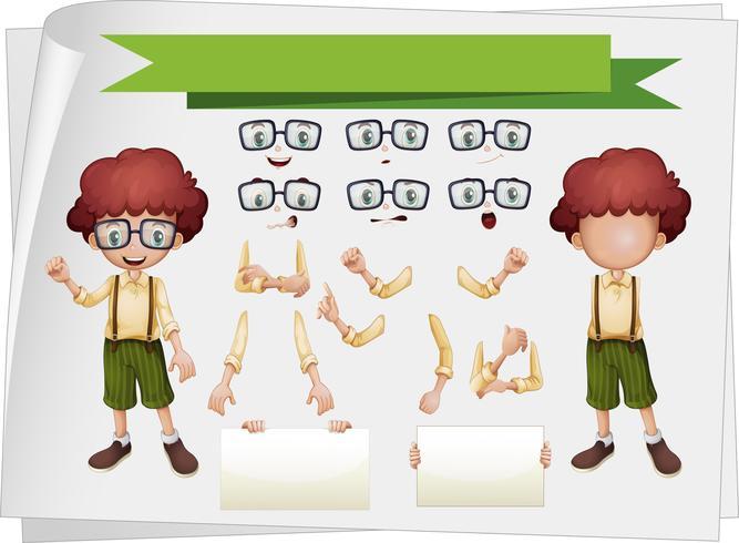 Niño con expresiones faciales y gestos con las manos.