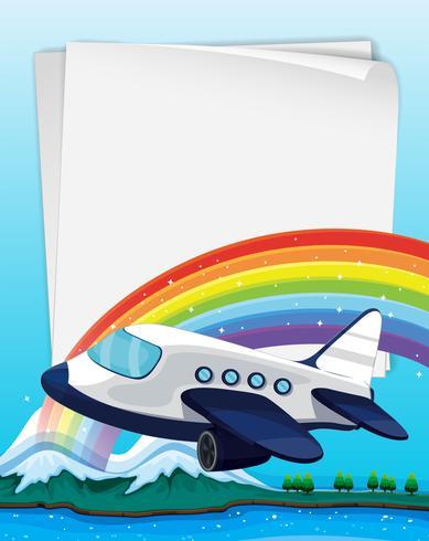 Pappersdesign med flygplan som flyger