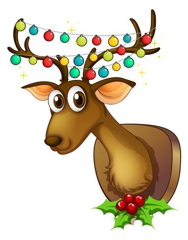 Tema de Natal com renas e luzes