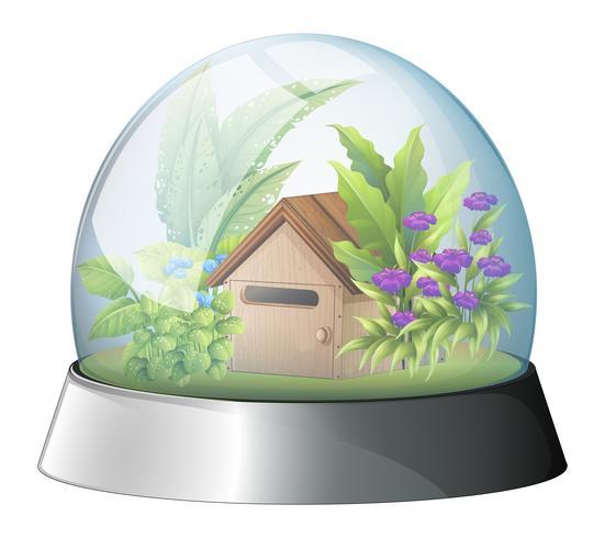 En kupol med ett inhemskt hus inuti