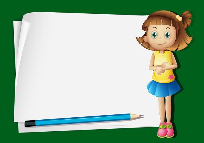 Gränsmall med litet barn och penna