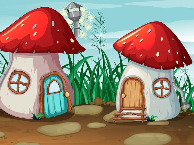 Förtrollad svamphus i naturen