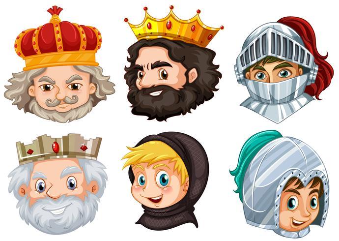 Verschillende sprookjesfiguren voor mannen