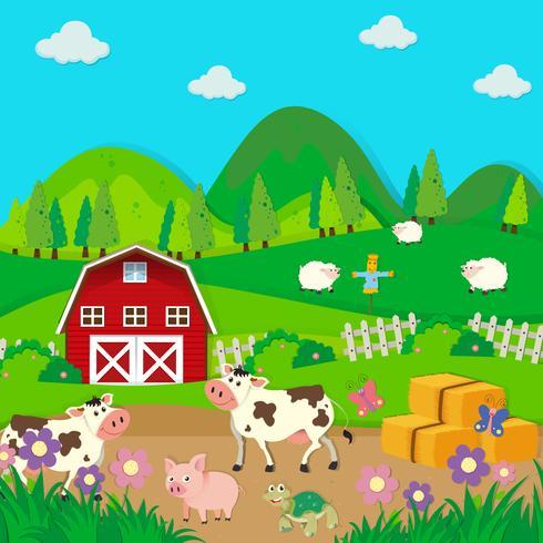 Boerderijdieren op de boerderij