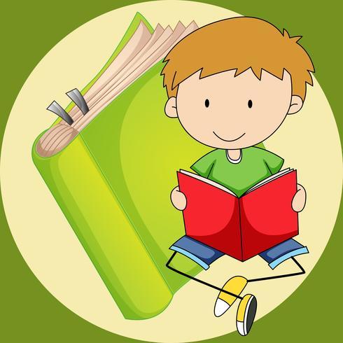 Livre de lecture petit garçon