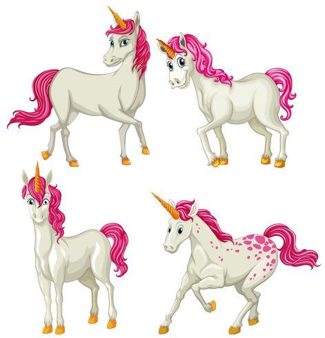 Licorne blanche en quatre actions