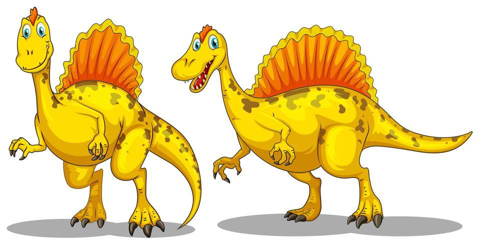 Dinosaurio con dientes afilados.