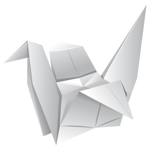 Arte de origami con pájaro de papel. vector