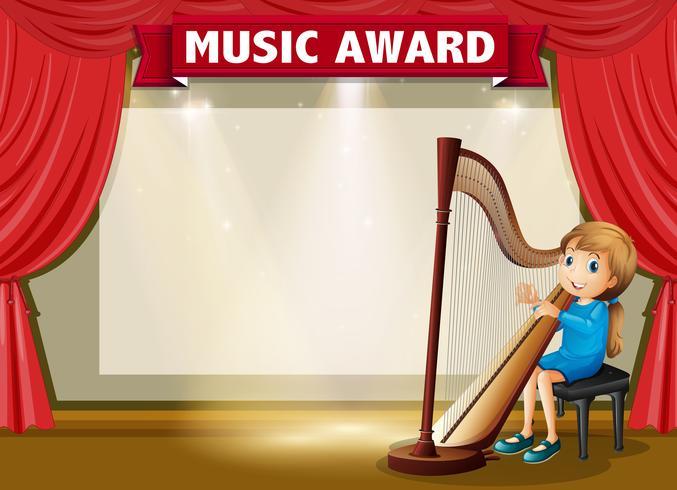 Modello di certificato per il premio musicale