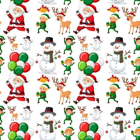 Nahtloses Muster von Weihnachten