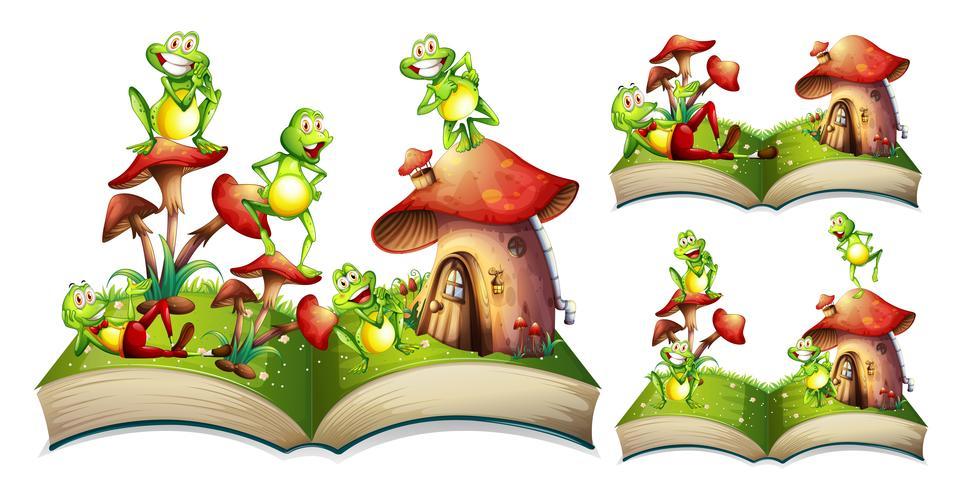 Lyckliga grodor på storybook