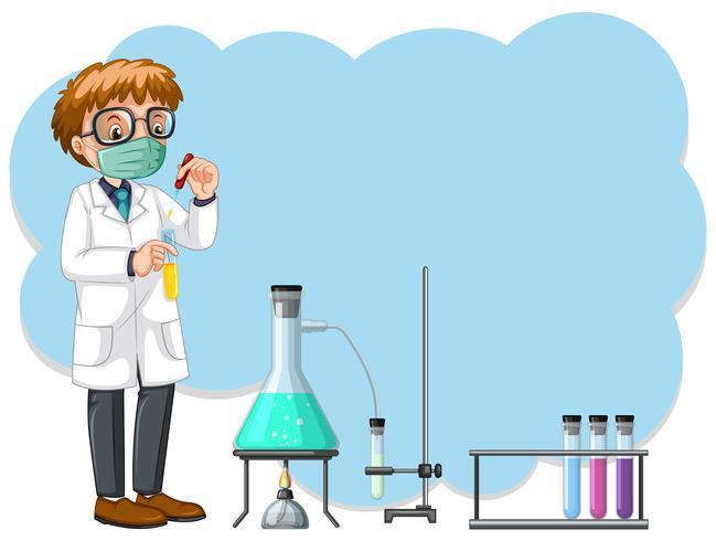 Une expérience scientifique en laboratoire