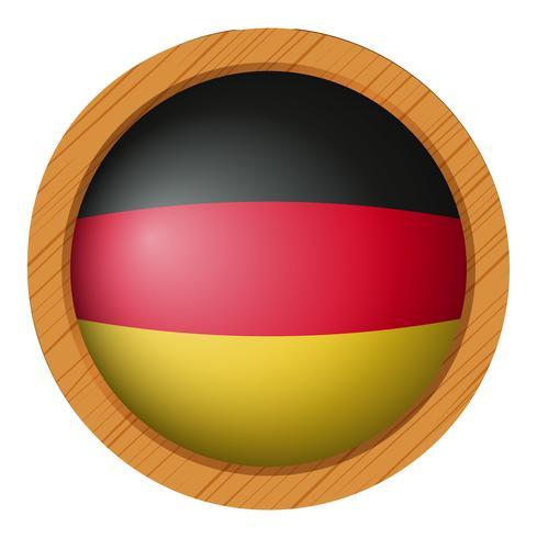 Drapeau de l'Allemagne en icône ronde